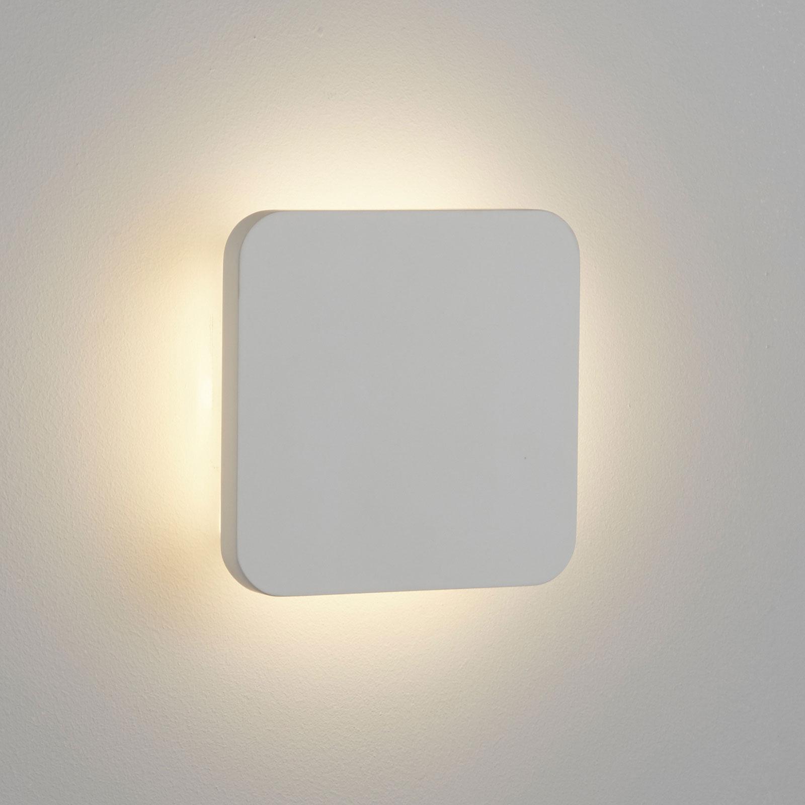 LED wandlamp Gypsum 15x15cm van witte gips