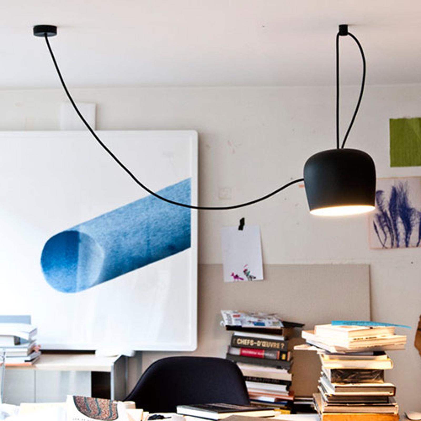 FLOS design-pendellamp Aim LED, zwart