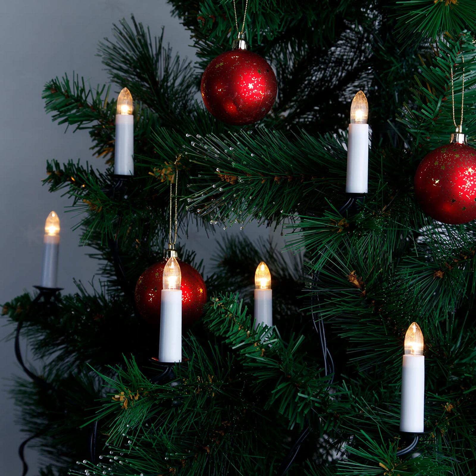 Dubbelsträng - stearinljus-ljusslinga med LED