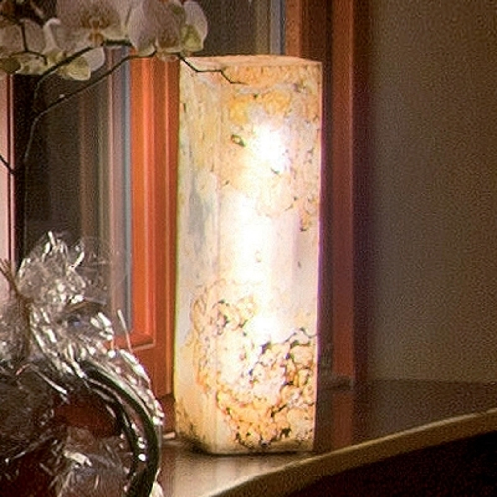 Quality Illuminated Column in Natural Slate_3050141_1