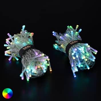 Smart LED-ljusgardin Twinkly för app, RGB