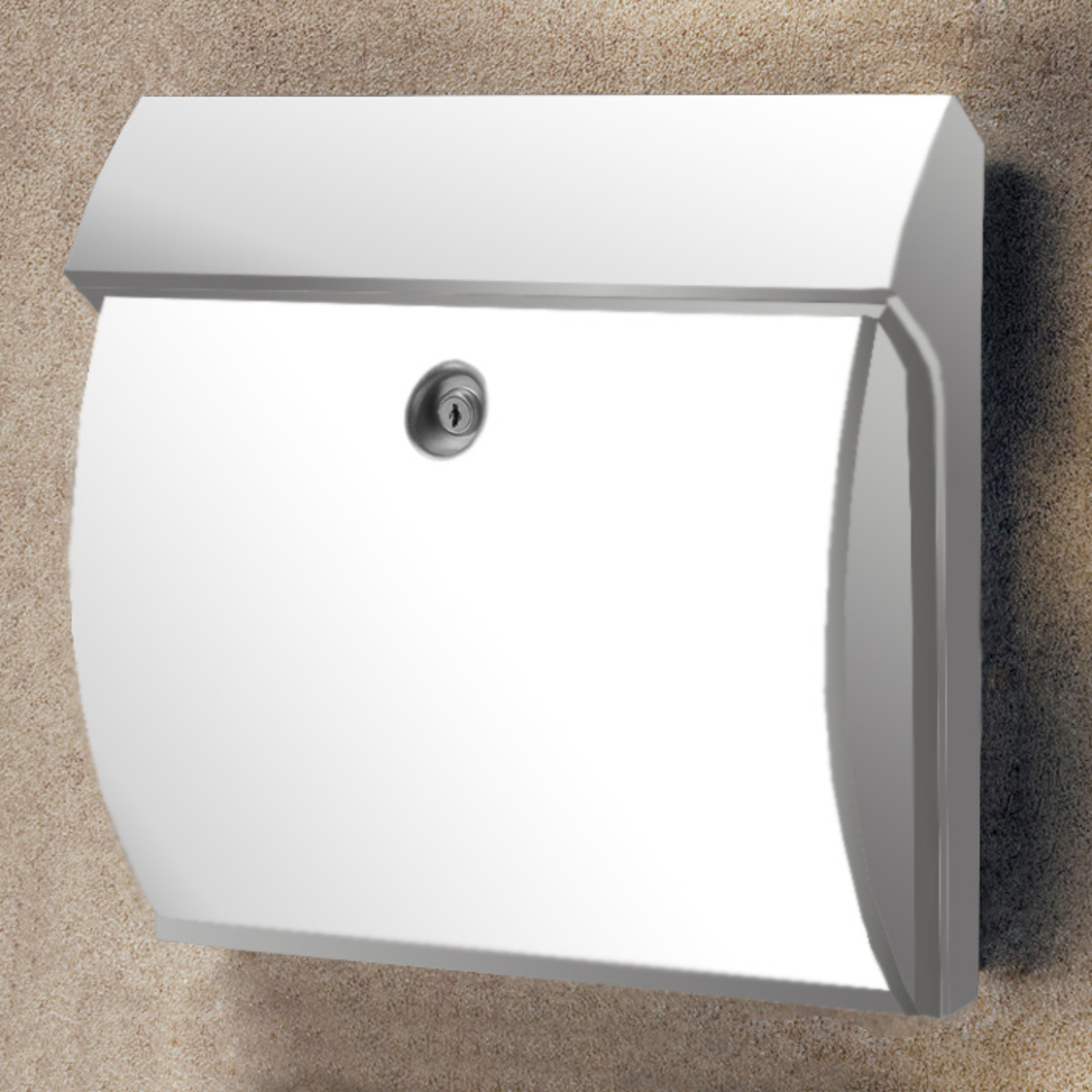 Classico Kunststoff-Briefkasten, weiß