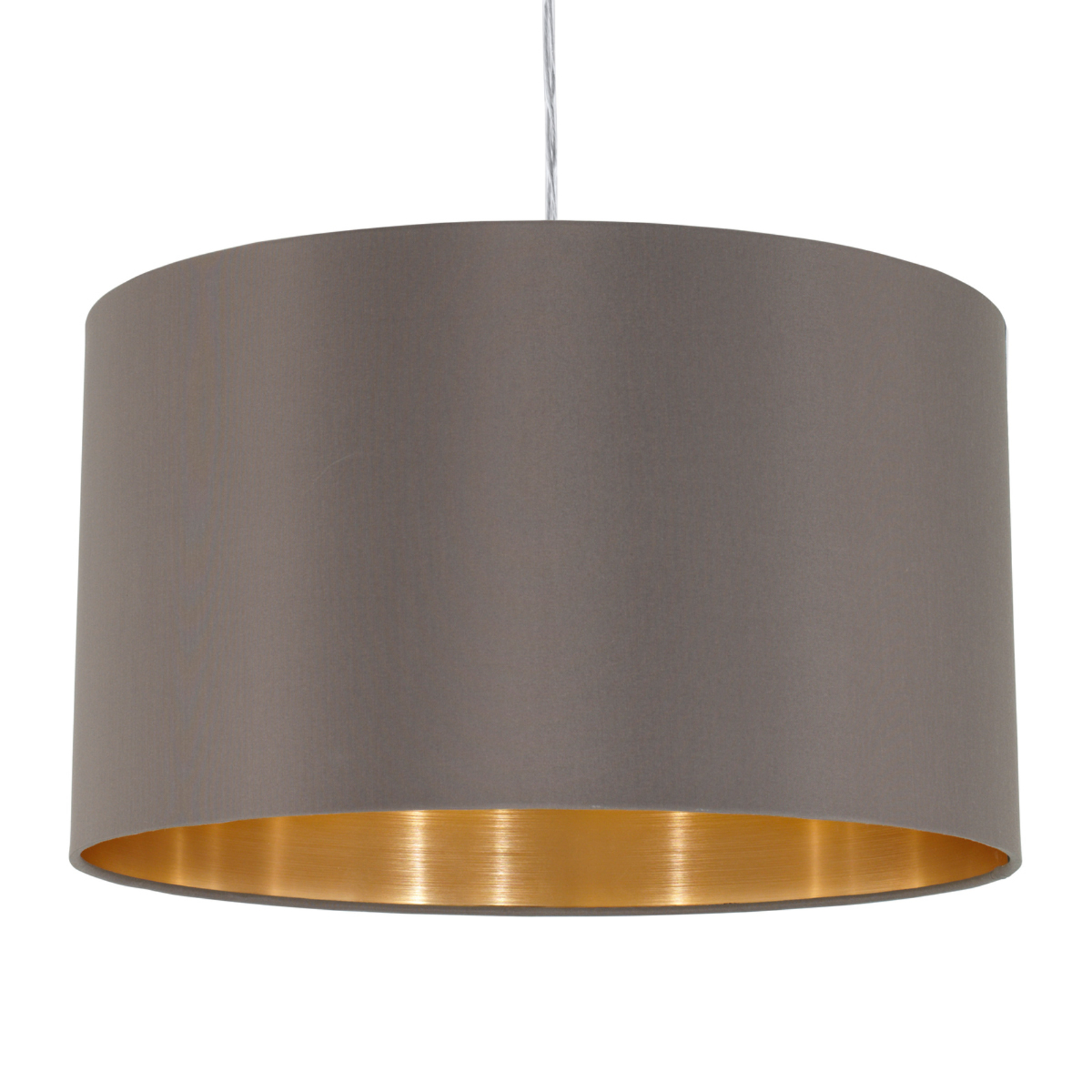 Tekstylna lampa wisząca Carpi, klosz z tkaniny
