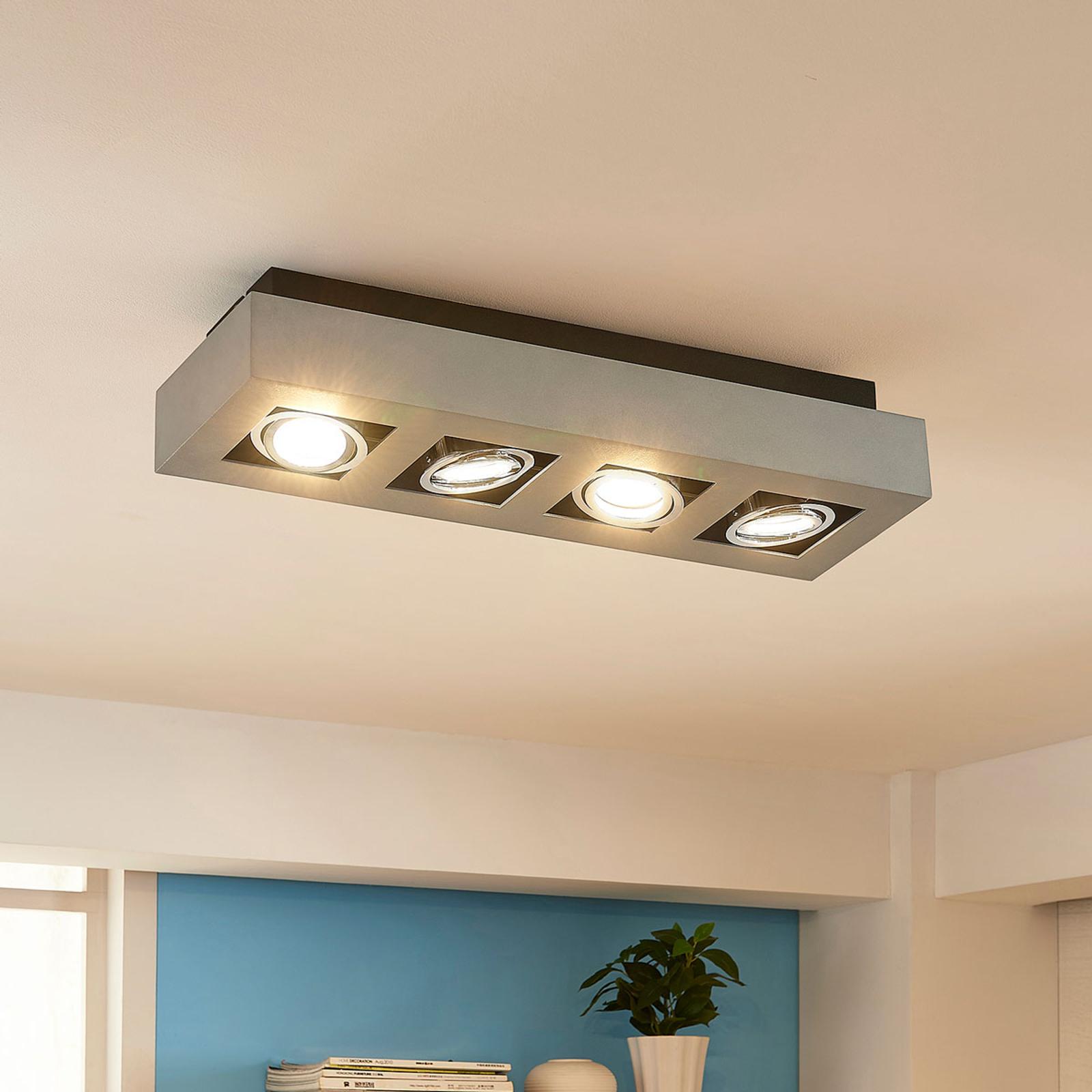 4-punktowa lampa sufitowa LED Vince