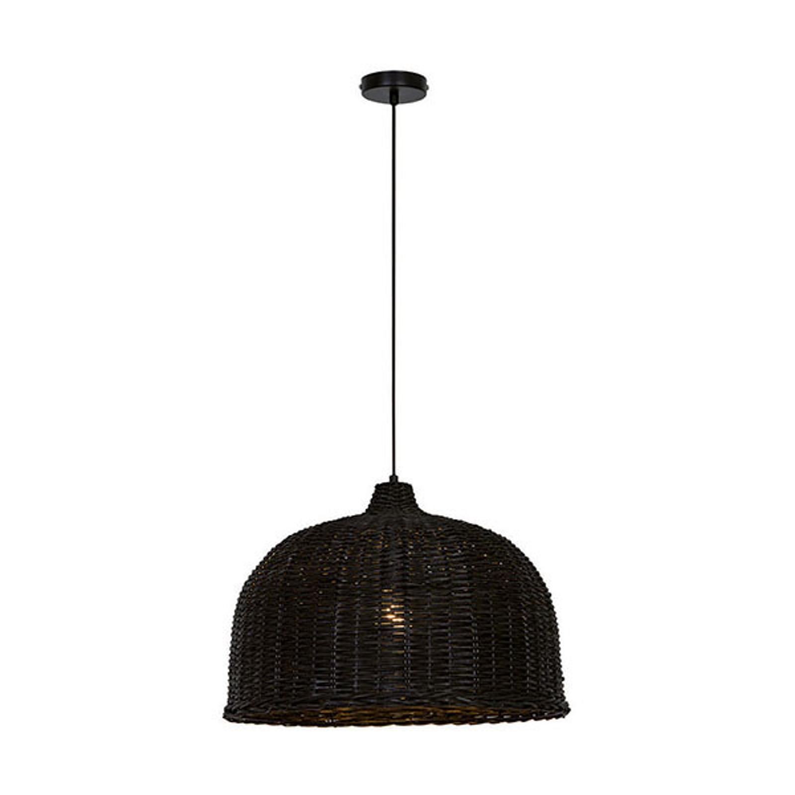 Lampa wisząca Malibu z drewna, czarna