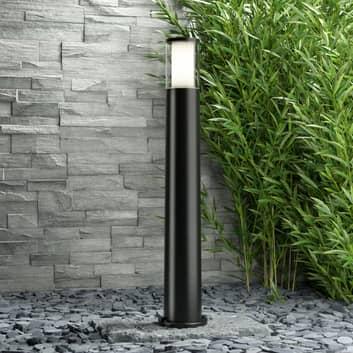 Czarny słupek ogrodowy LED Carlo