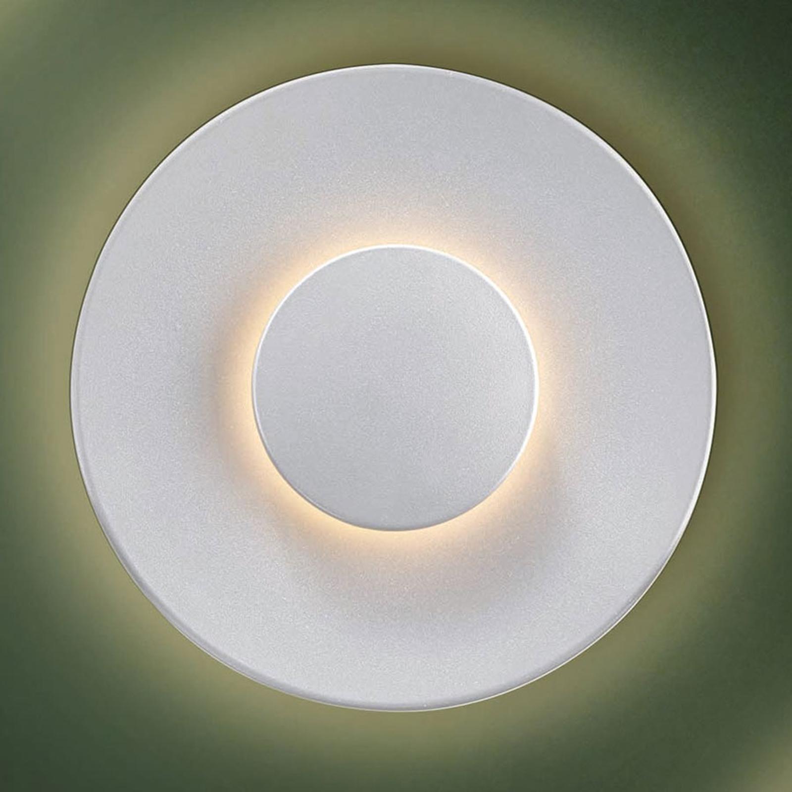 LED-Außenwandleuchte Piastra, weiß