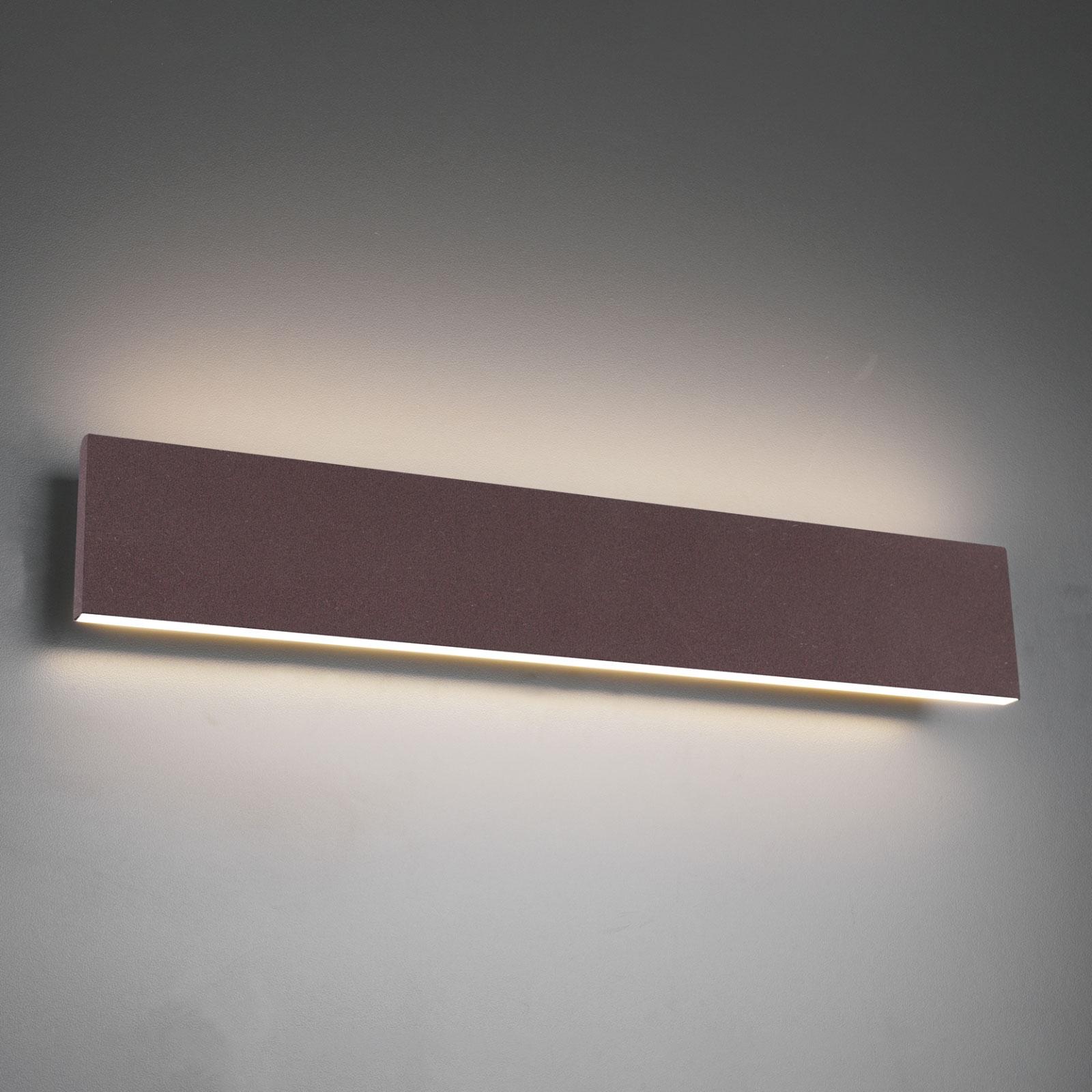 LED wandlamp Concha 47 cm, roest
