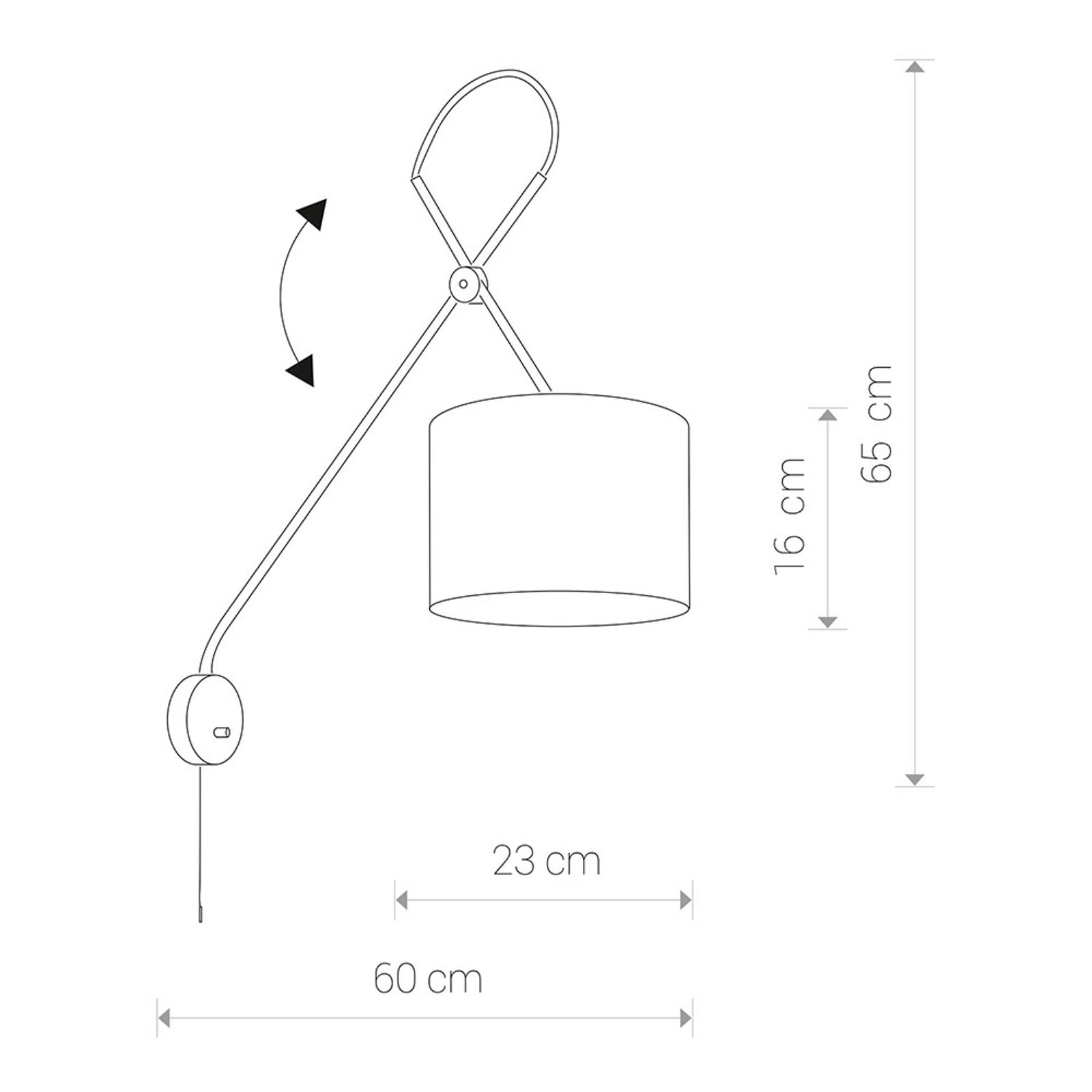 Wandlamp Viper met flexibele frame, zwart