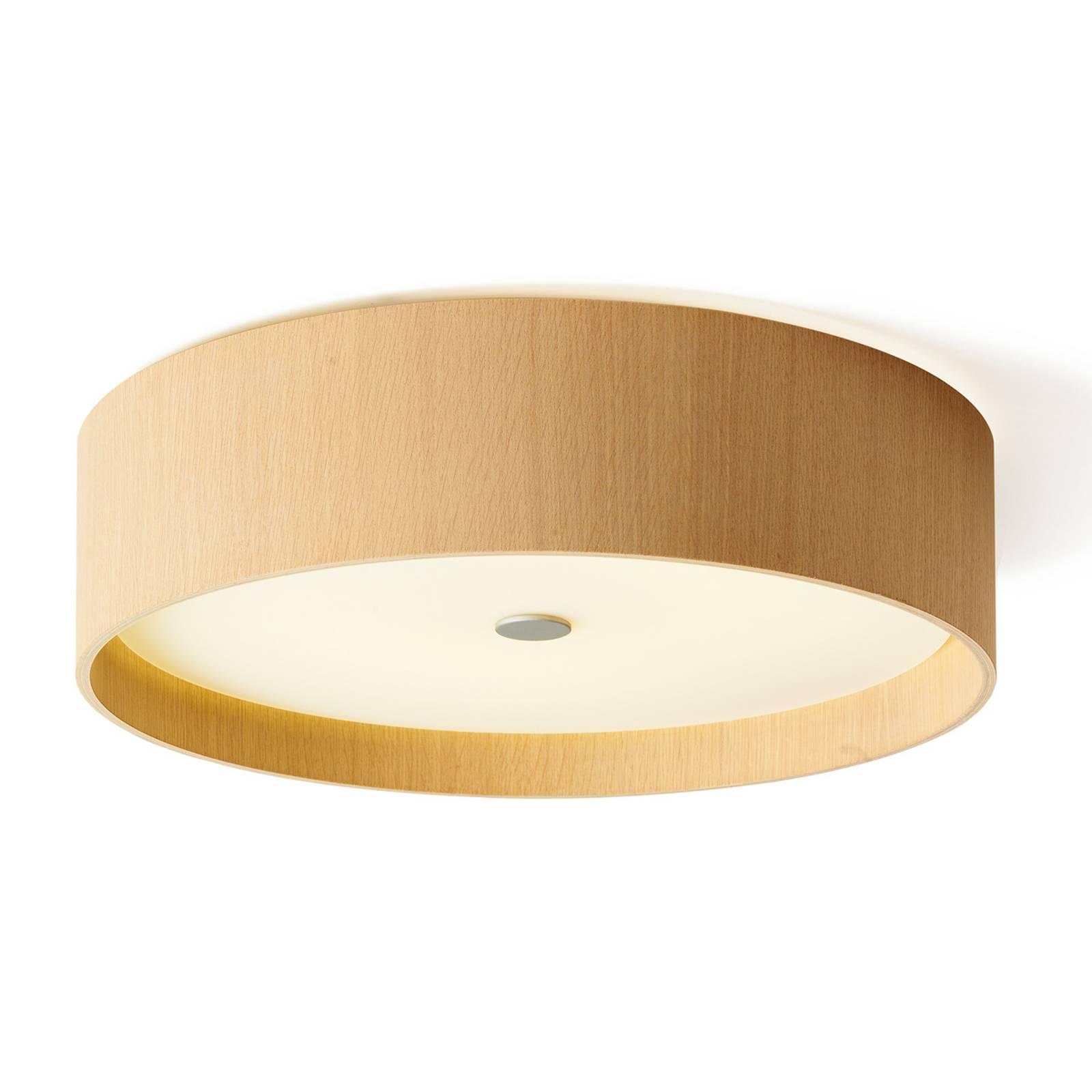 Houten plafondlamp Lara wood met LED, 43 cm