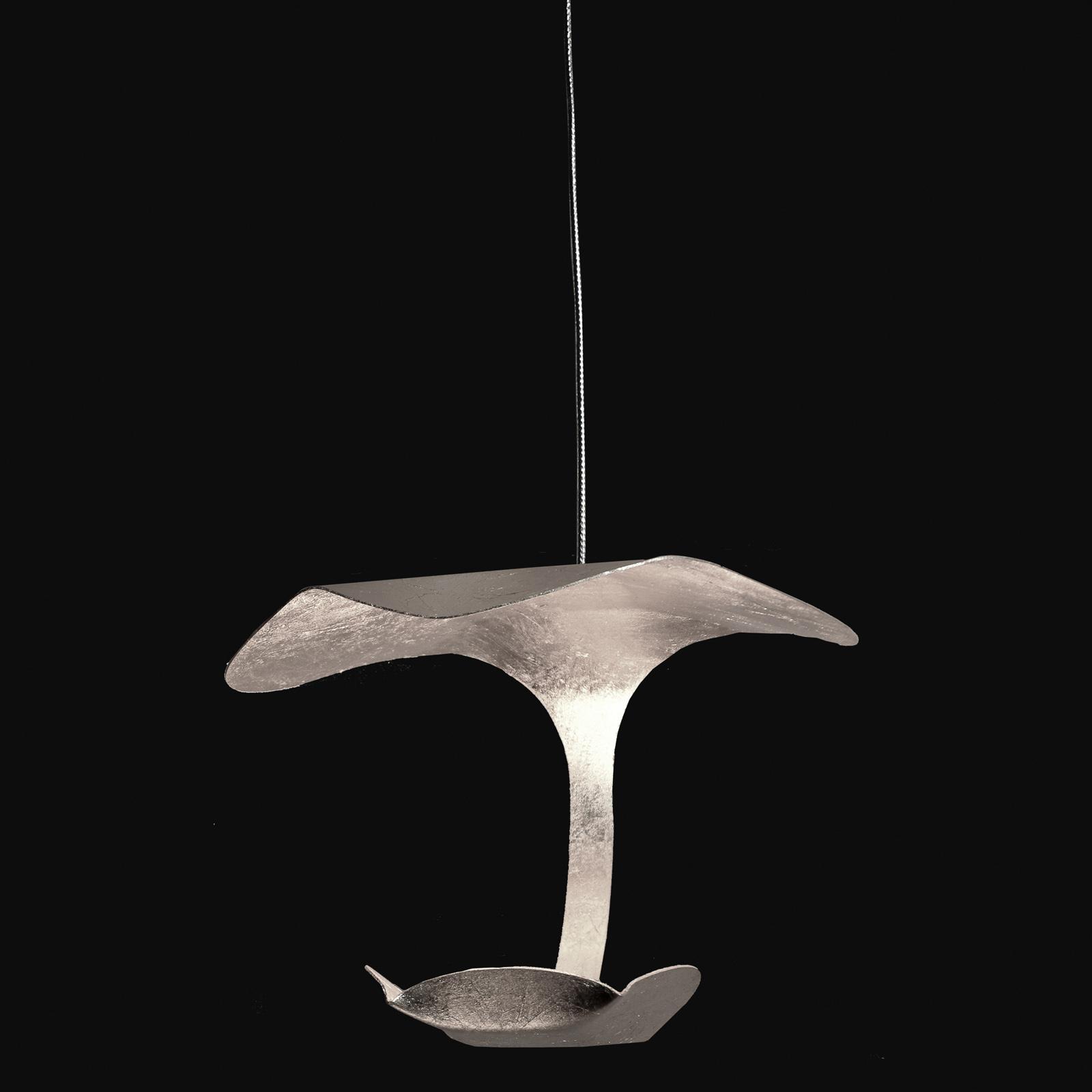 Knikerboker Le Gigine LED-Hängeleuchte 1fl silber