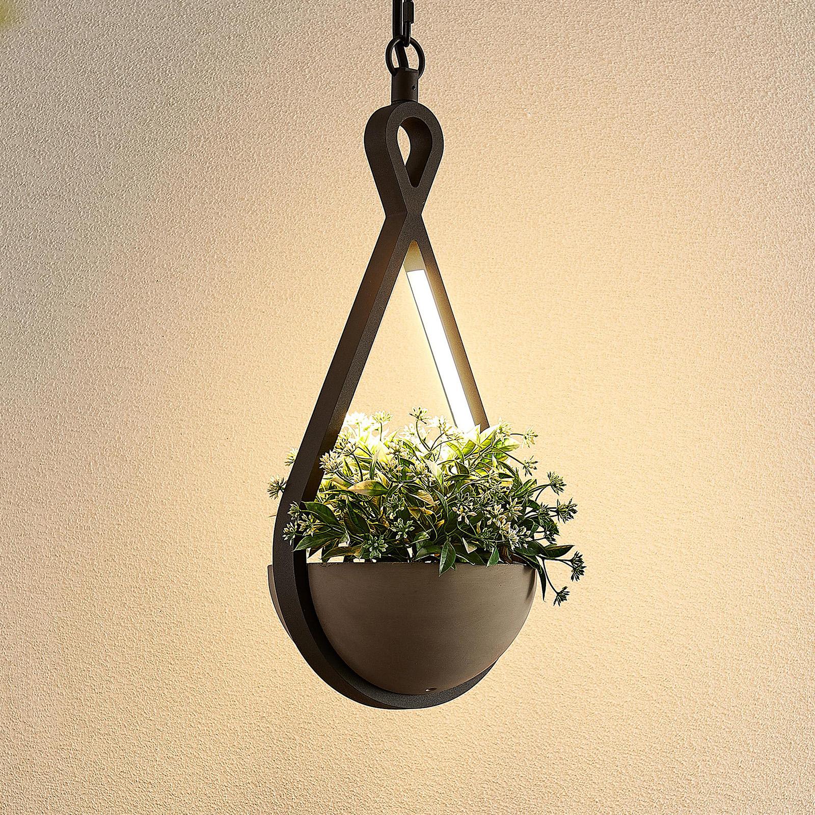 Lucande Florka suspension d'extérieur LED