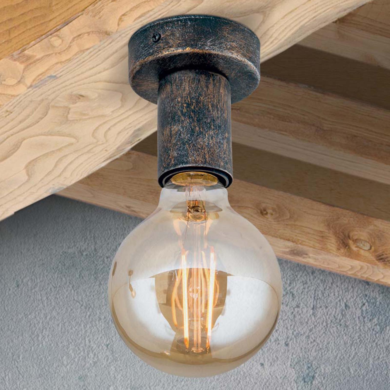 Prosta lampa sufitowa Rati w tyslu vintage