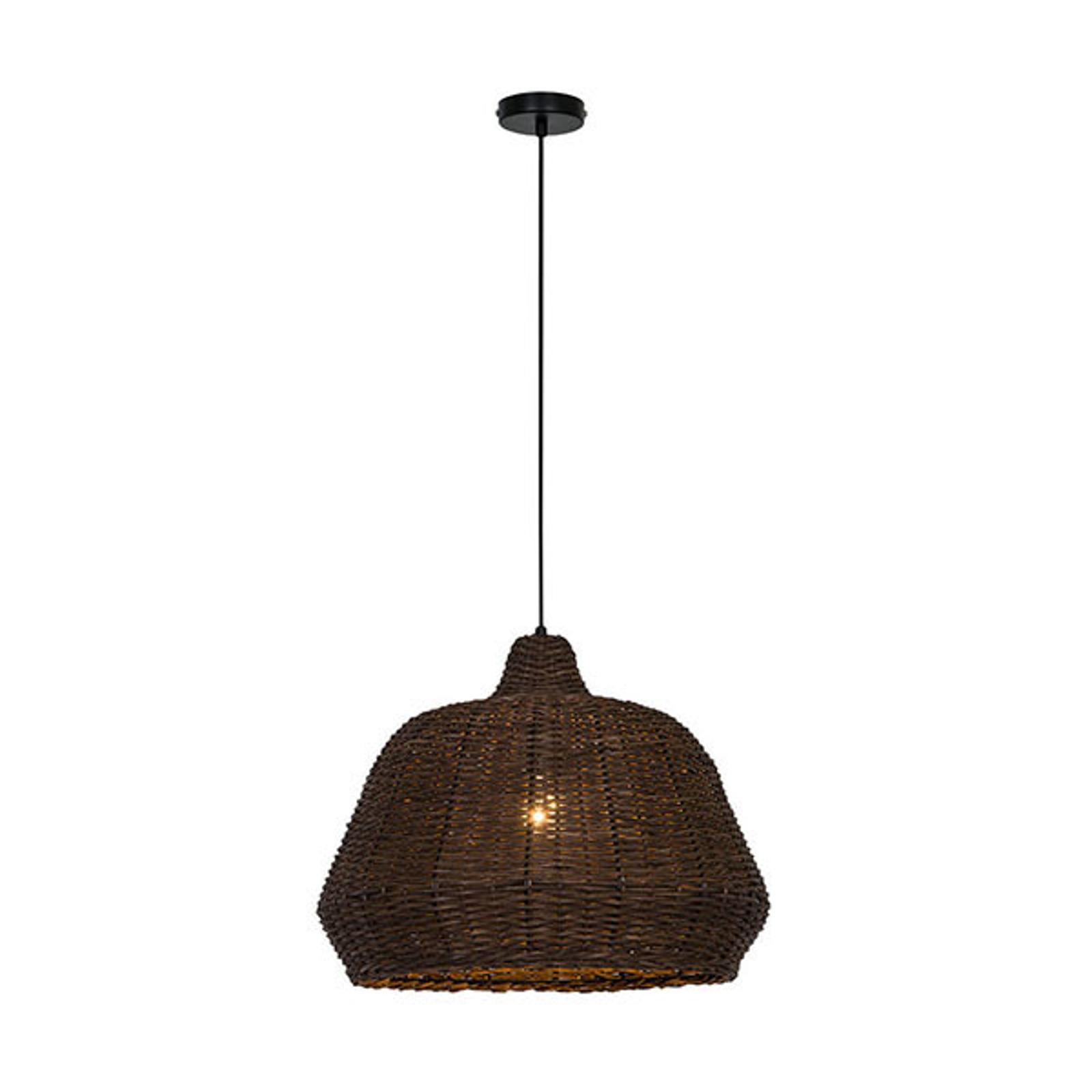 Lampa wisząca Malibu z drewna, brązowa