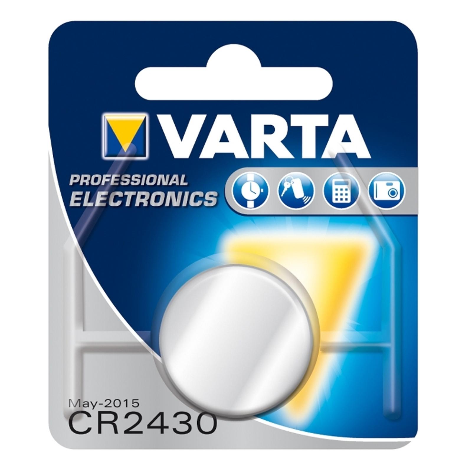 Knappcelle CR2430 3V litium VARTA