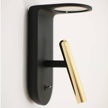 Svart-guld-designad LED-vägglampa 2Nights_W2