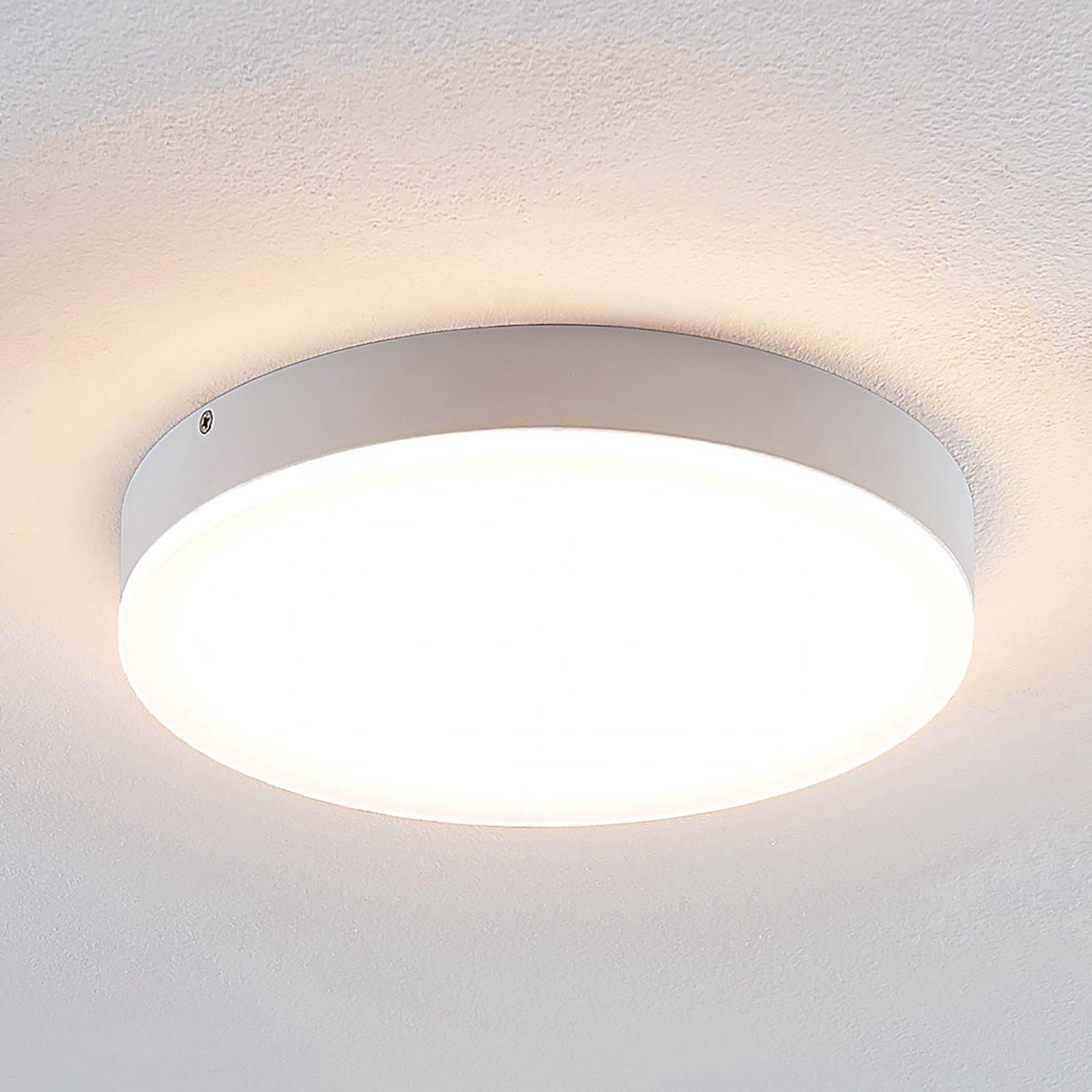 Lindby Leonta LED plafondlamp, wit, Ø 25 cm