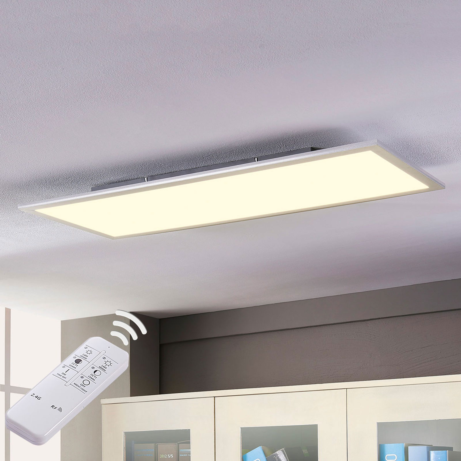 Lindby Livel panel LED CCT, 120 cm x 30 cm