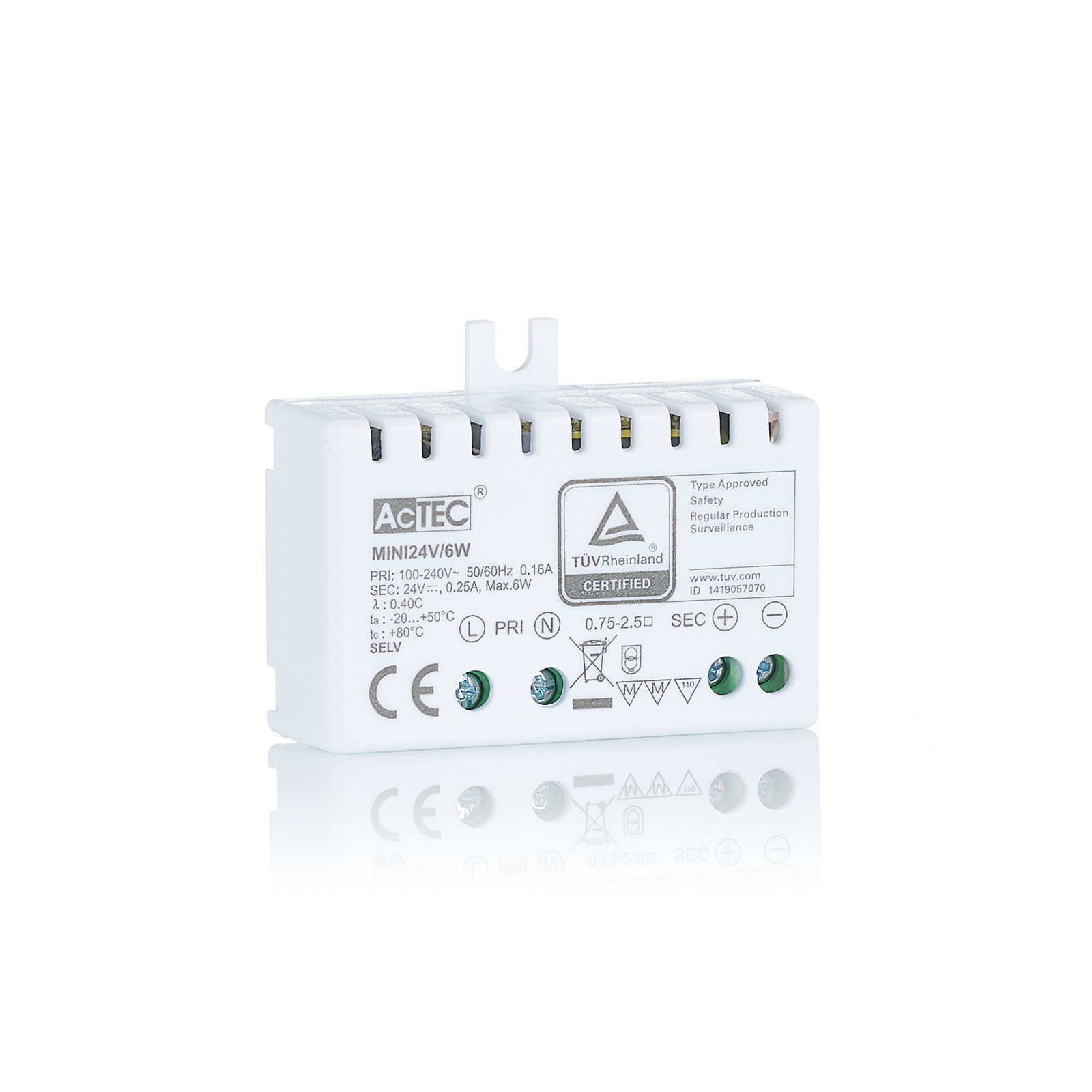 AcTEC Mini LED-driver CV 24 V, 6 W, IP20