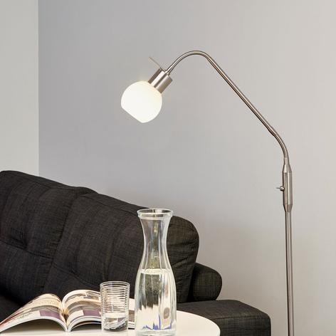 LED-Stehleuchte Elaina 1-flg., nickel matt