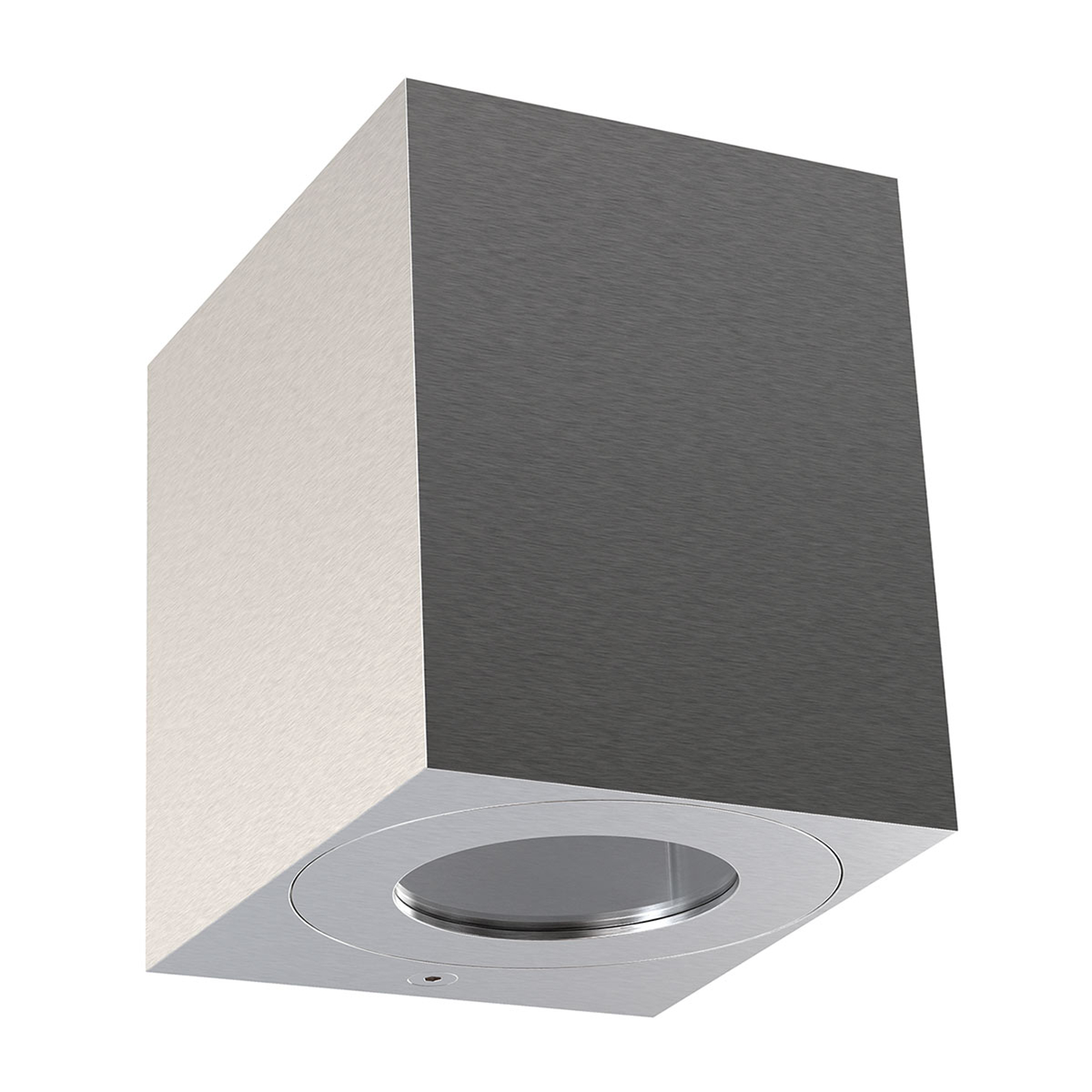 LED buitenwandlamp Canto Kubi 2, 10cm RVS