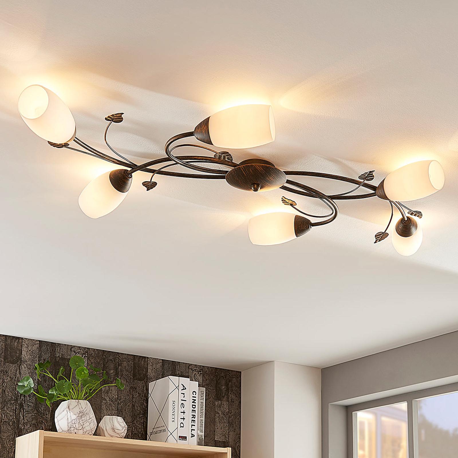 Lámpara LED de techo Stefania romántica