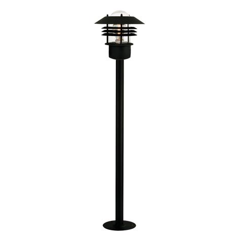 elegante lampada da terra Vejers, nera