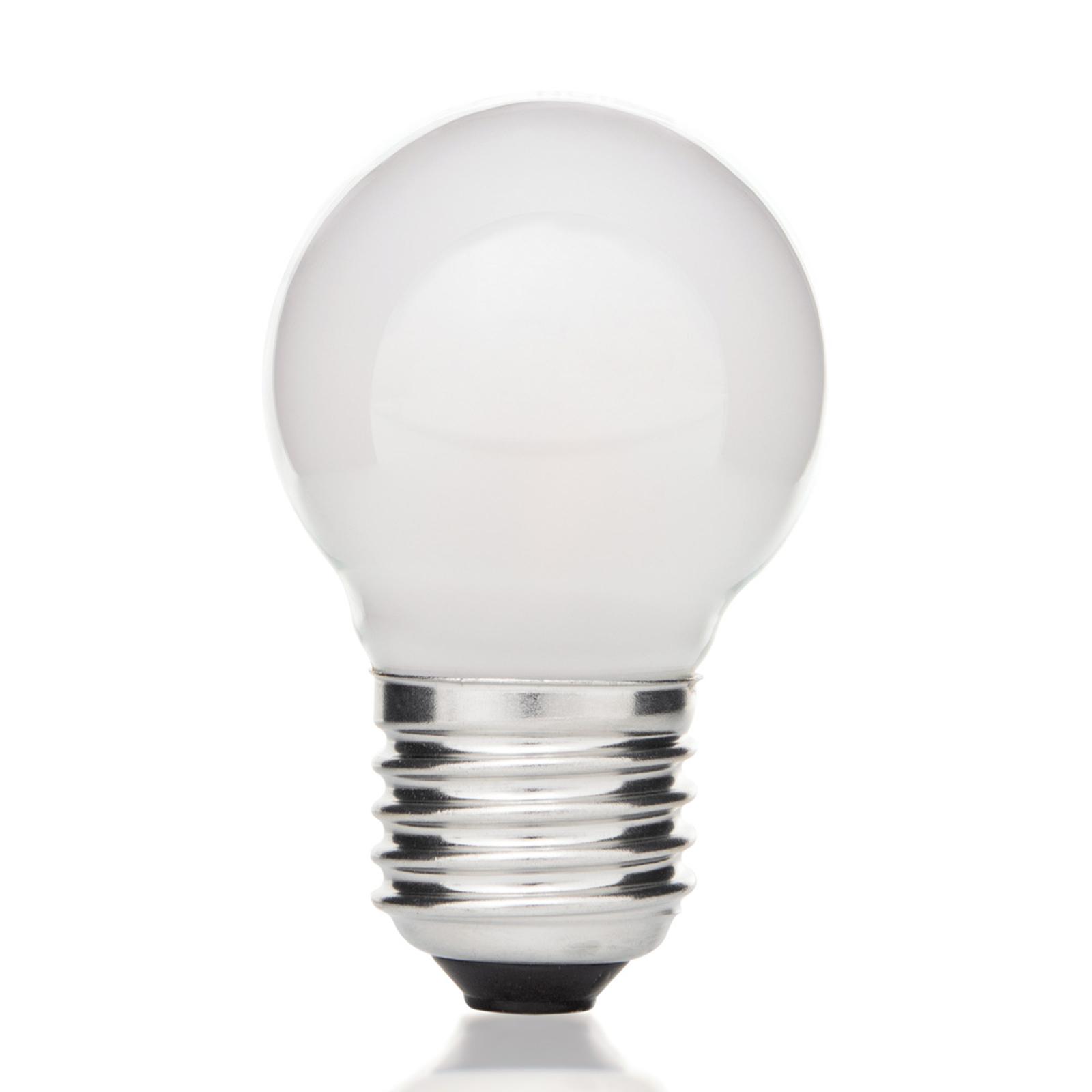 Lampadina LED a goccia E27 4W 827, interno opaco