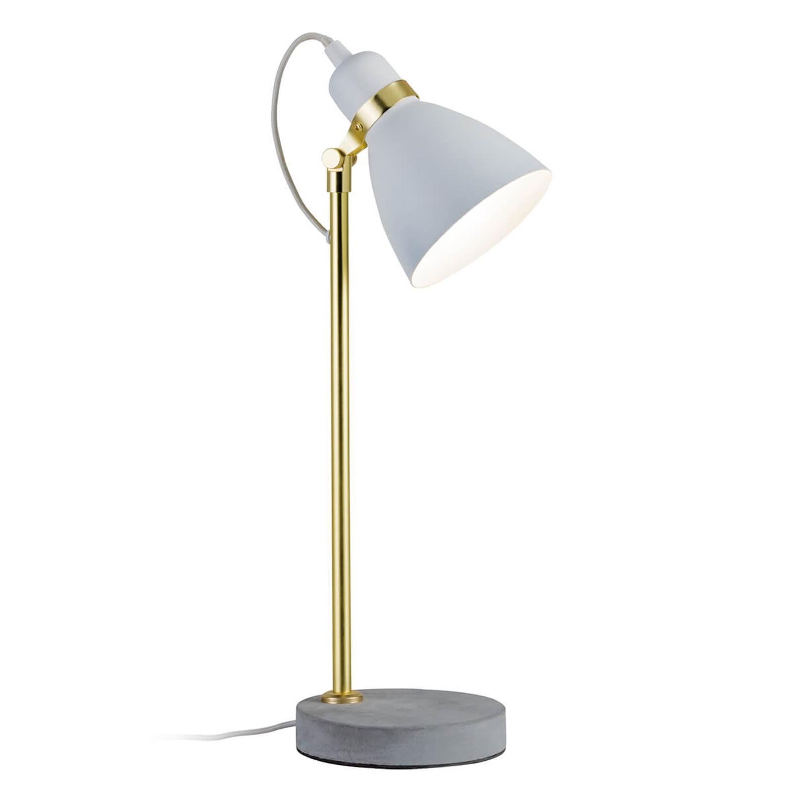 Paulmann Orm Tischlampe in Weiß-Gold