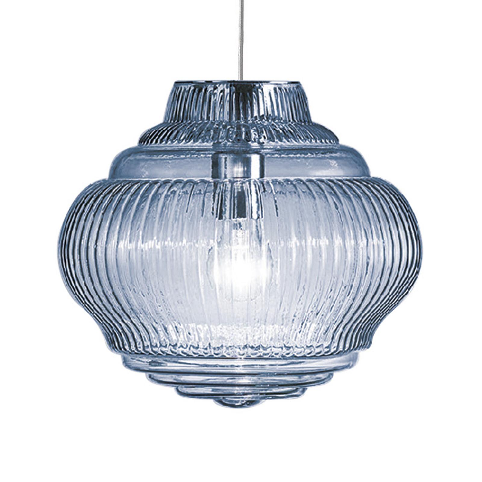 Lampada a sospensione Bonnie 130 cm celeste