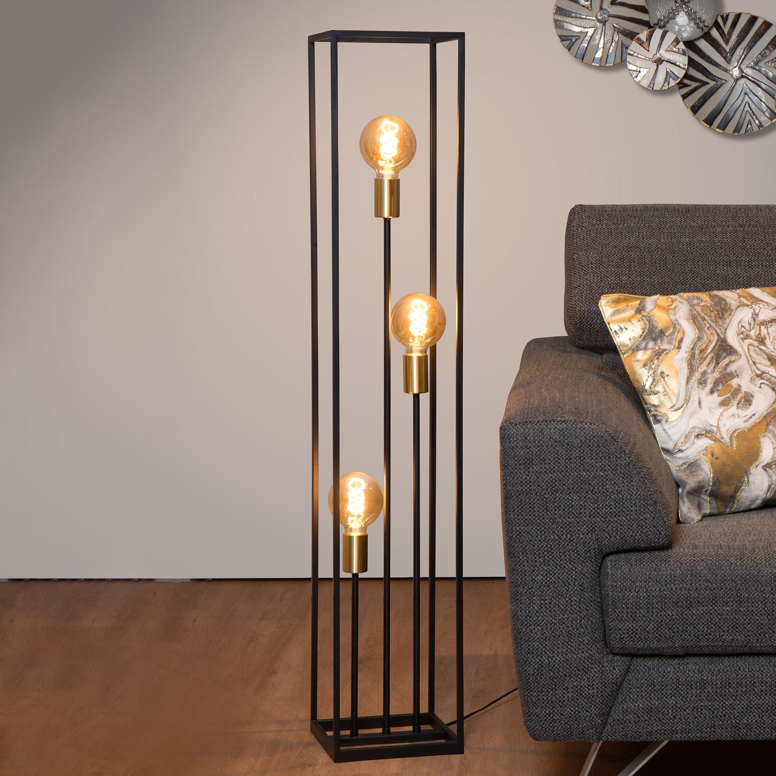 Ruben standerlampe, sort, 3 lyskilder