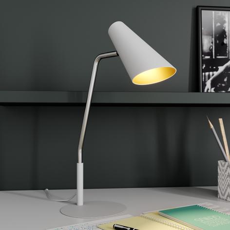 Lucande Wibke lampada da tavolo bianca
