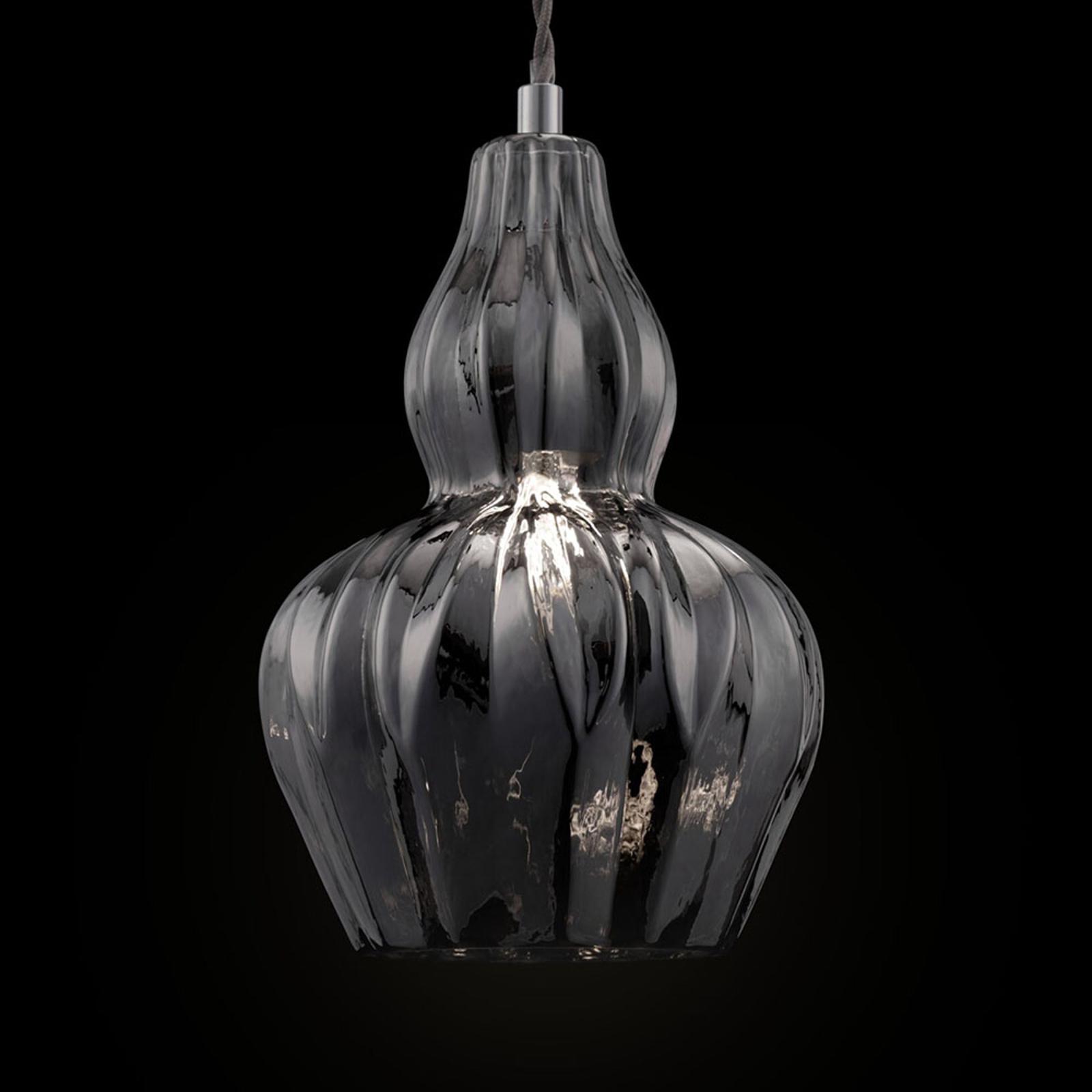 Lámpara colgante Eustoma con vidrio espejo
