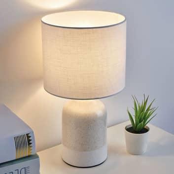 Pauleen Sandy Glow lámpara de mesa blanco y crema
