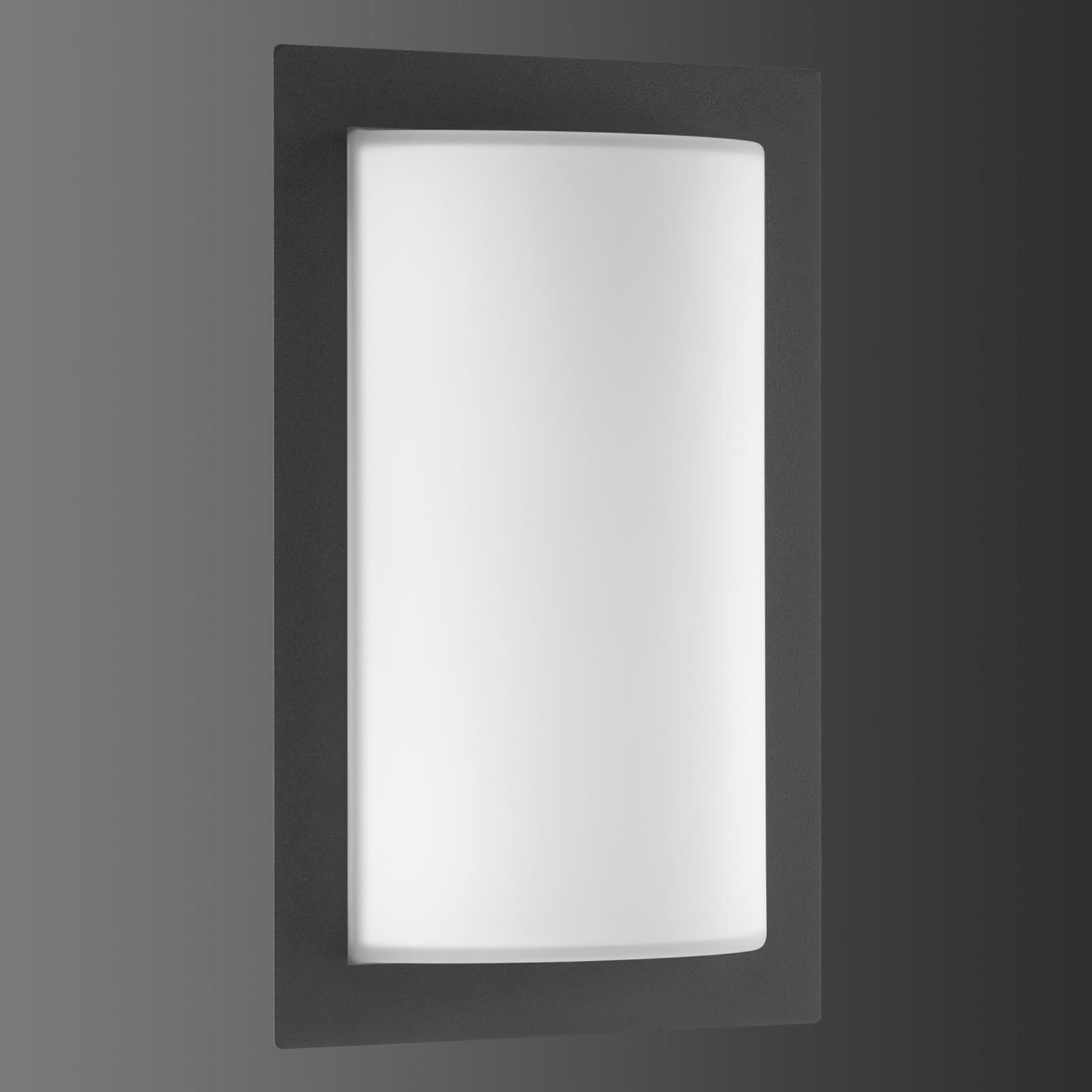 Grafietkleurige buitenwandlamp Luis m. LED licht