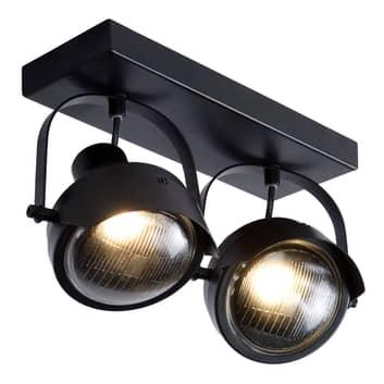 Takspotlight Cicleta, svart, 2 lampor
