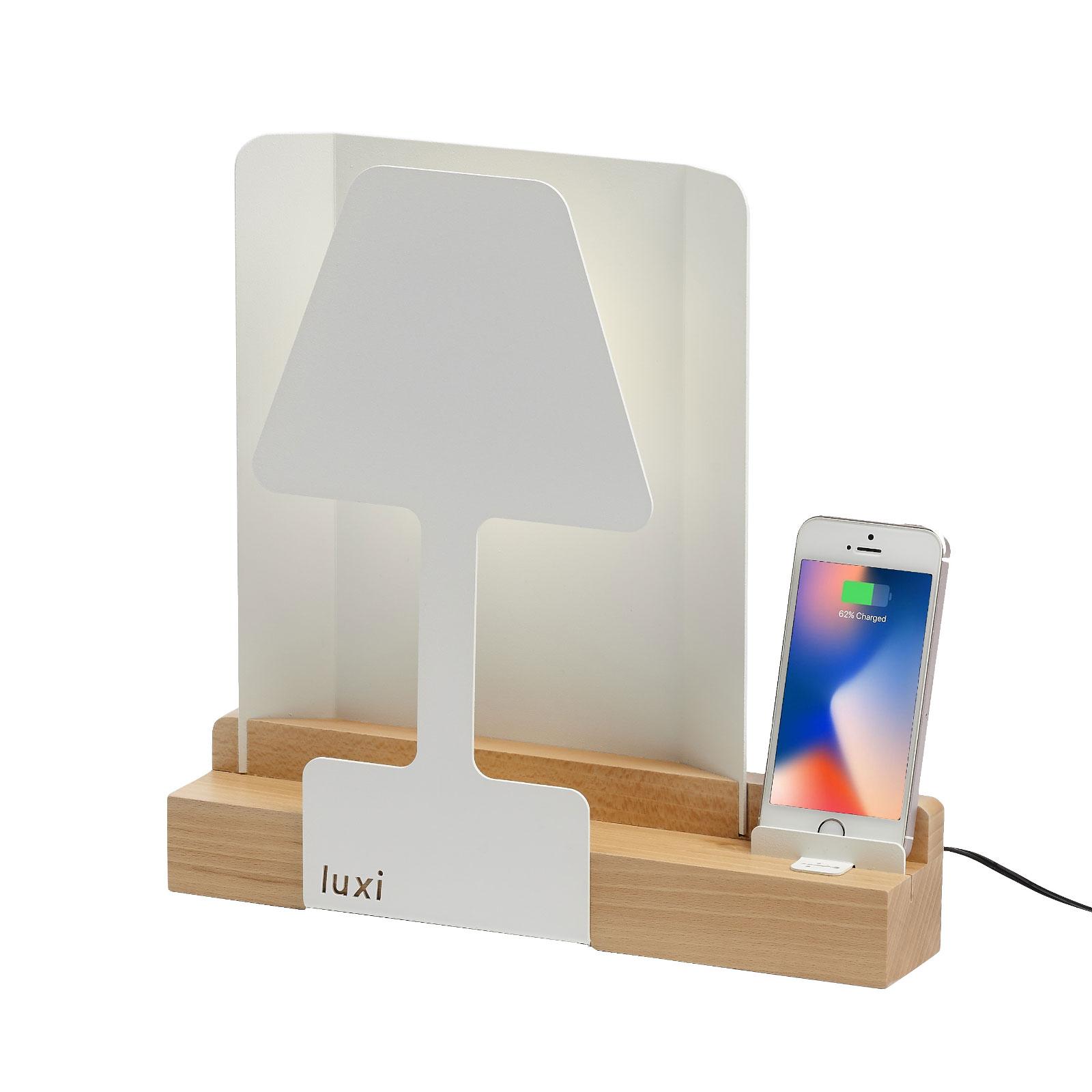 Lampe à poser LED Luxi avec chargeur intégré