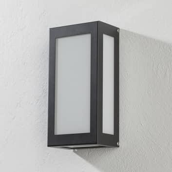 Aqua Rain udendørs LED-væglampe, sensor, antracit