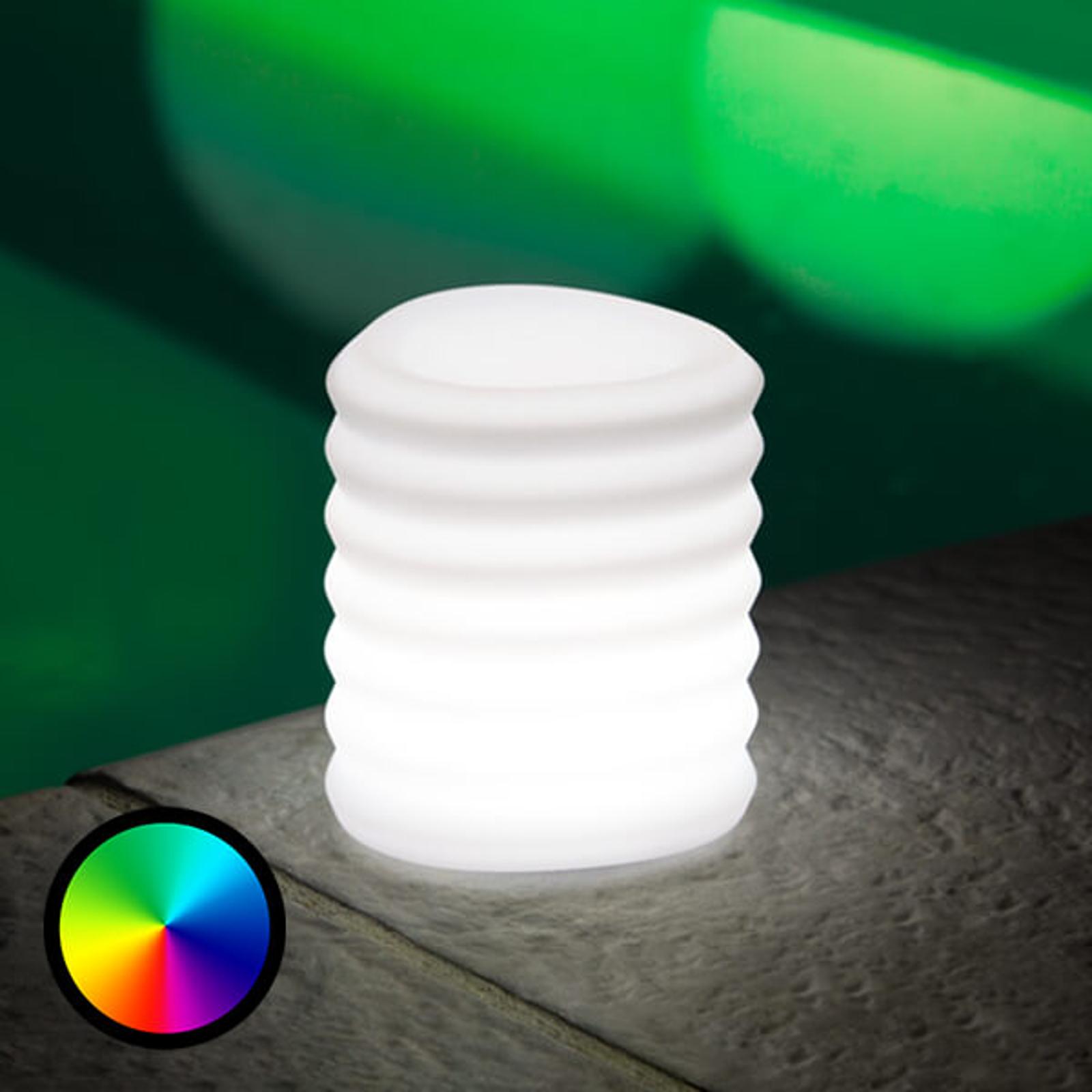 LED-dekorationslampe Lampion styres via smartphone