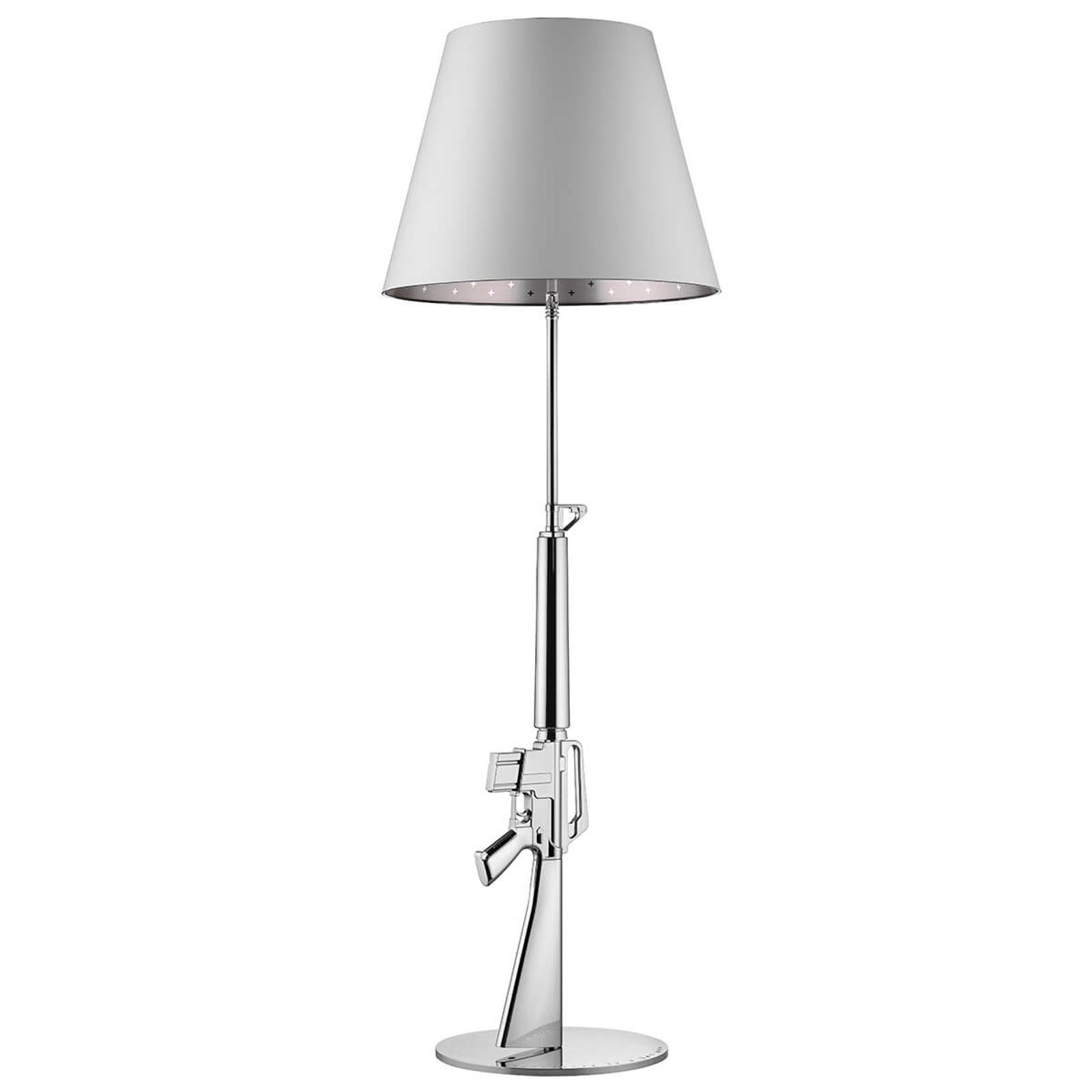 FLOS Lounge Gun - stojací lampa, chromově bílá