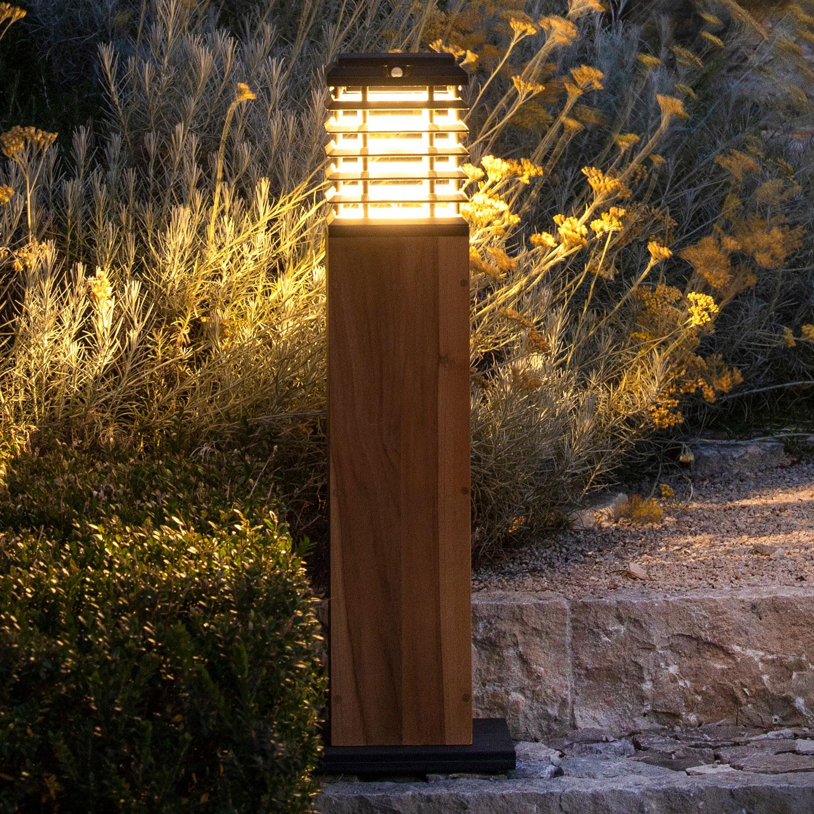 LED-Solarwegeleuchte Tekura, Duratek grau/grau