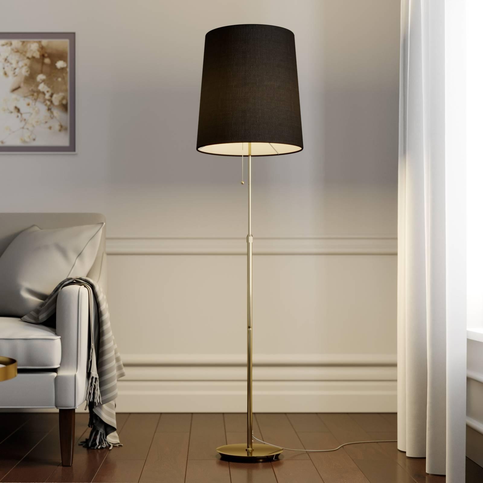 Lucande Pordis lampadaire, 155 cm, laiton-doré