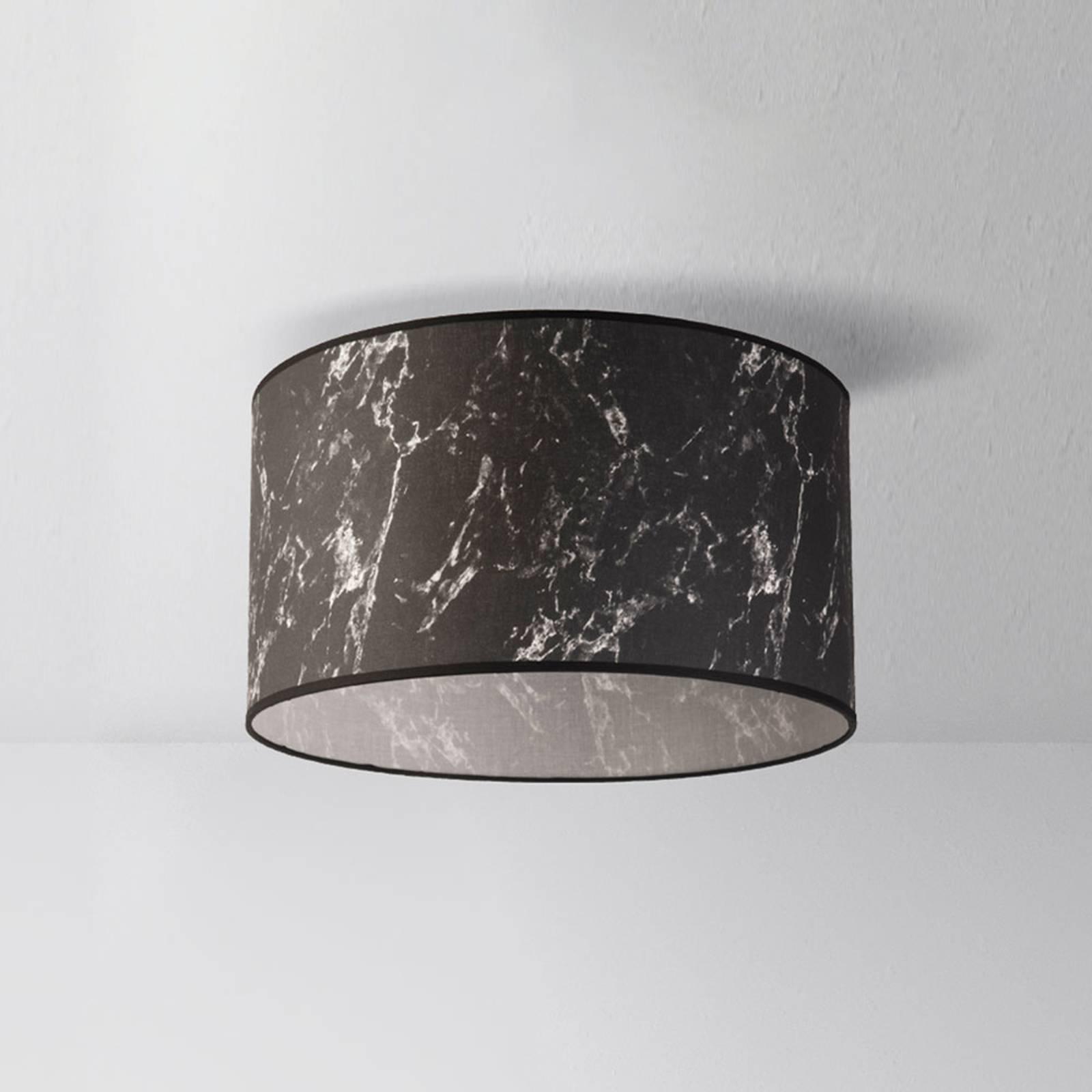 Deckenleuchte Marble, schwarz marmoriert