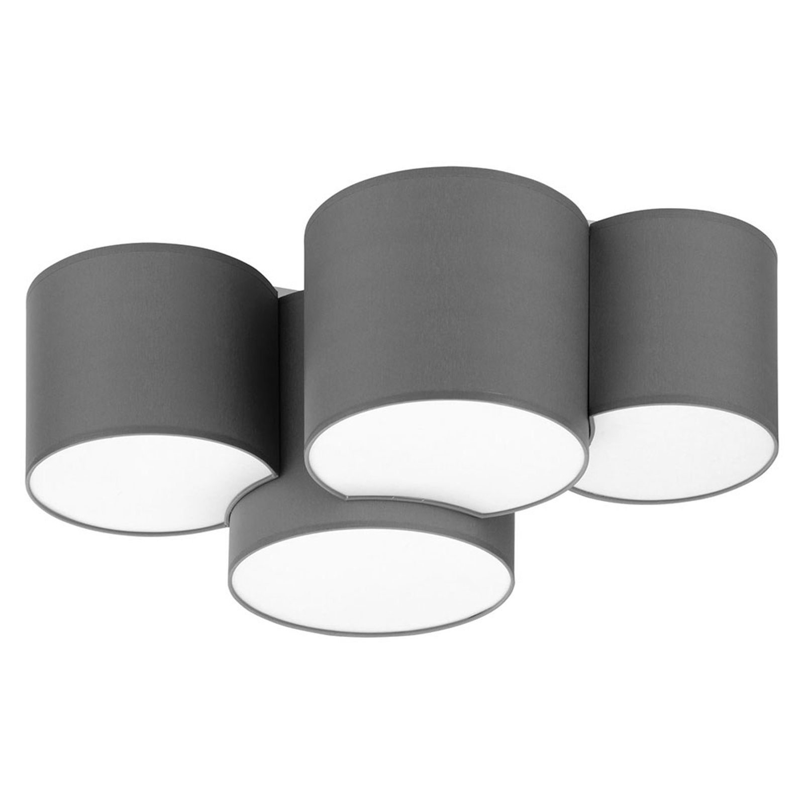 Taklampe Mona fire lyskilder, grå