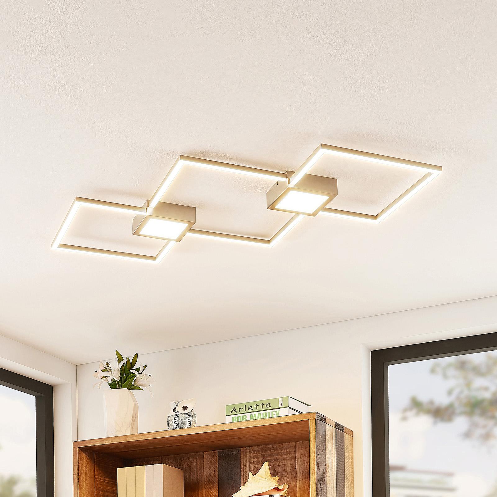 Lindby Makoto plafoniera LED 2 luci, dimmerabile