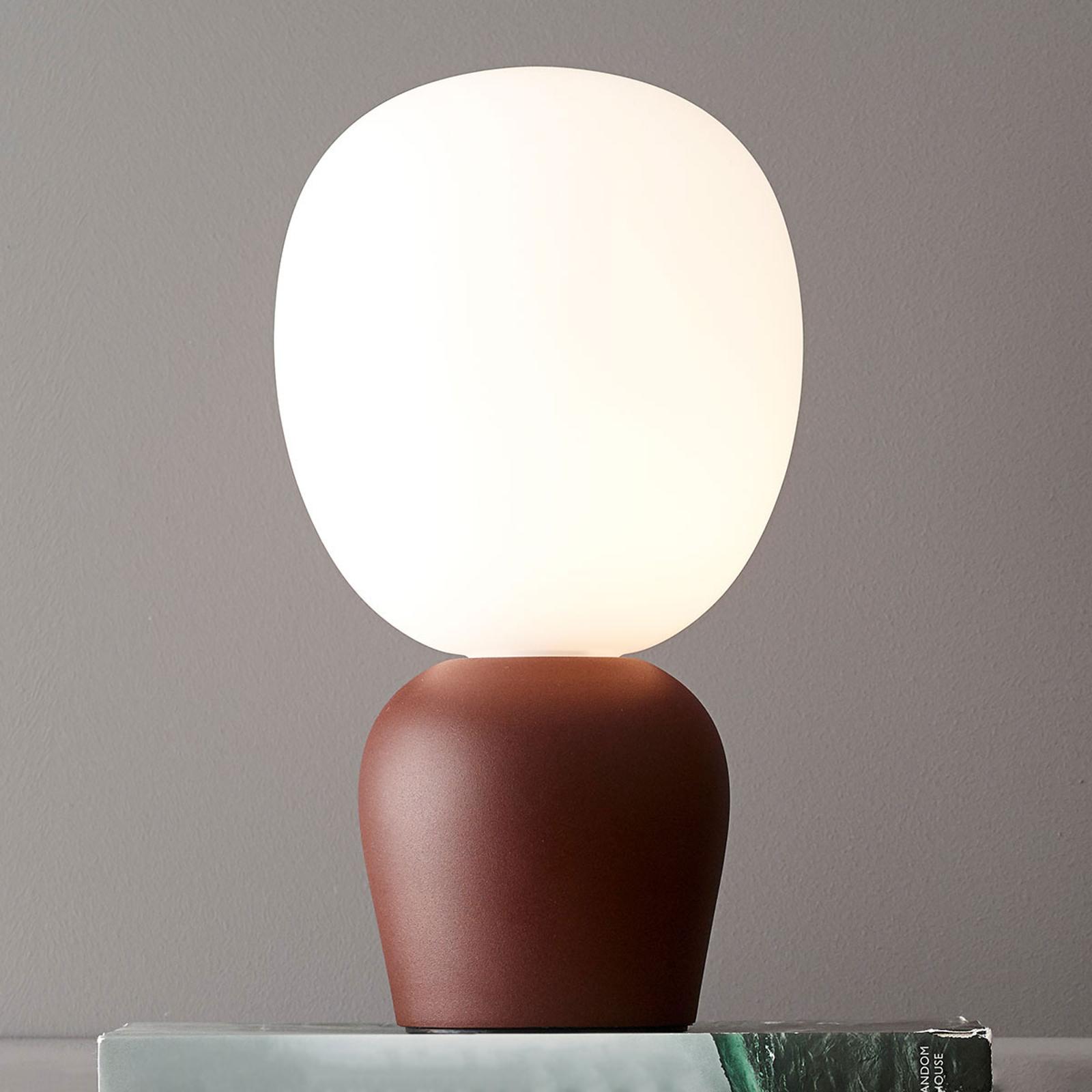 Lampa stołowa Buddy, ciemna rdza