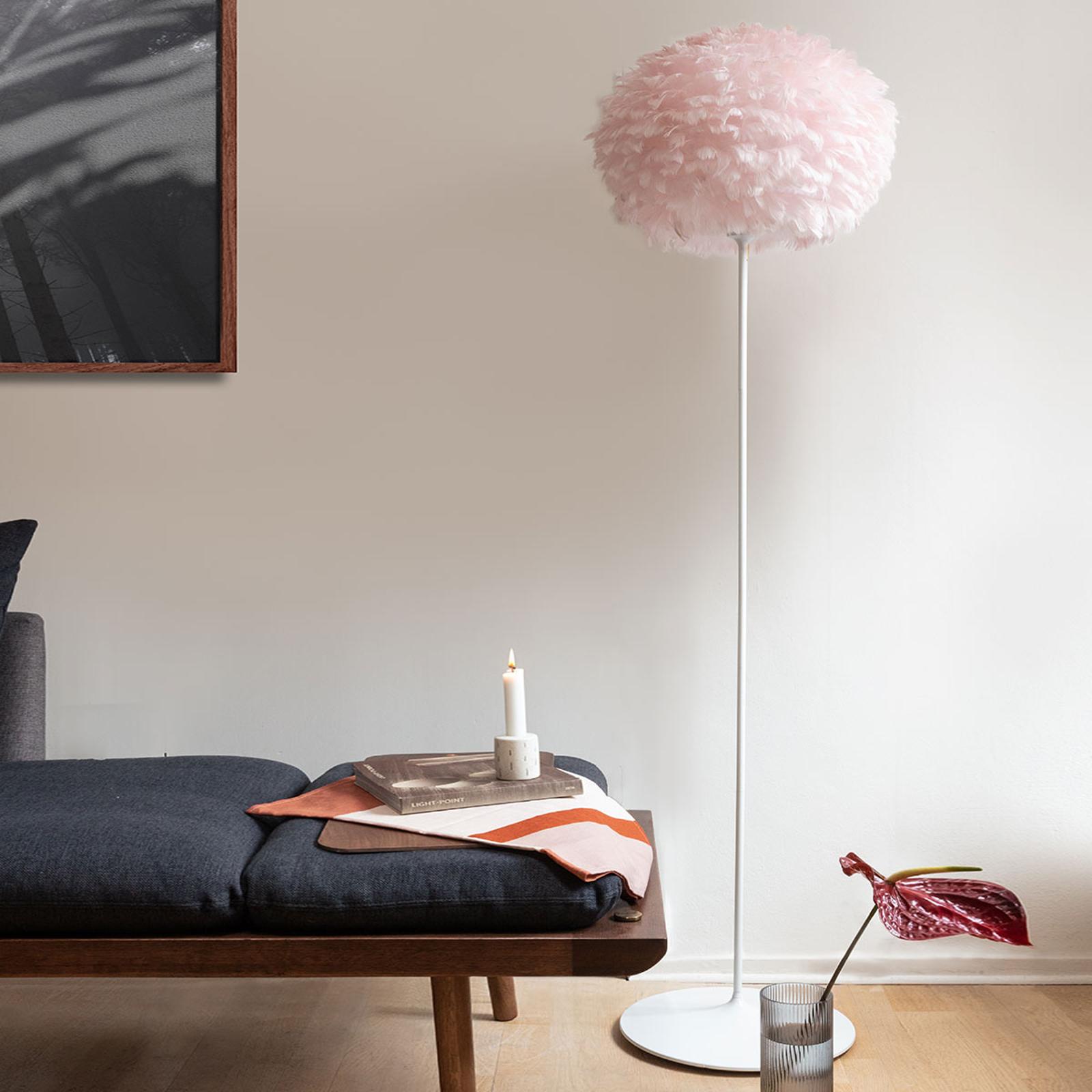 UMAGE Eos medium gulvlampe rosa stamme, hvit