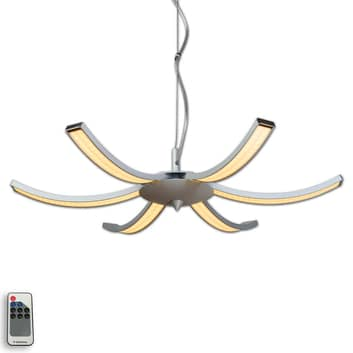 Suspension LED Largo à 6 lampes 63cm aluminium