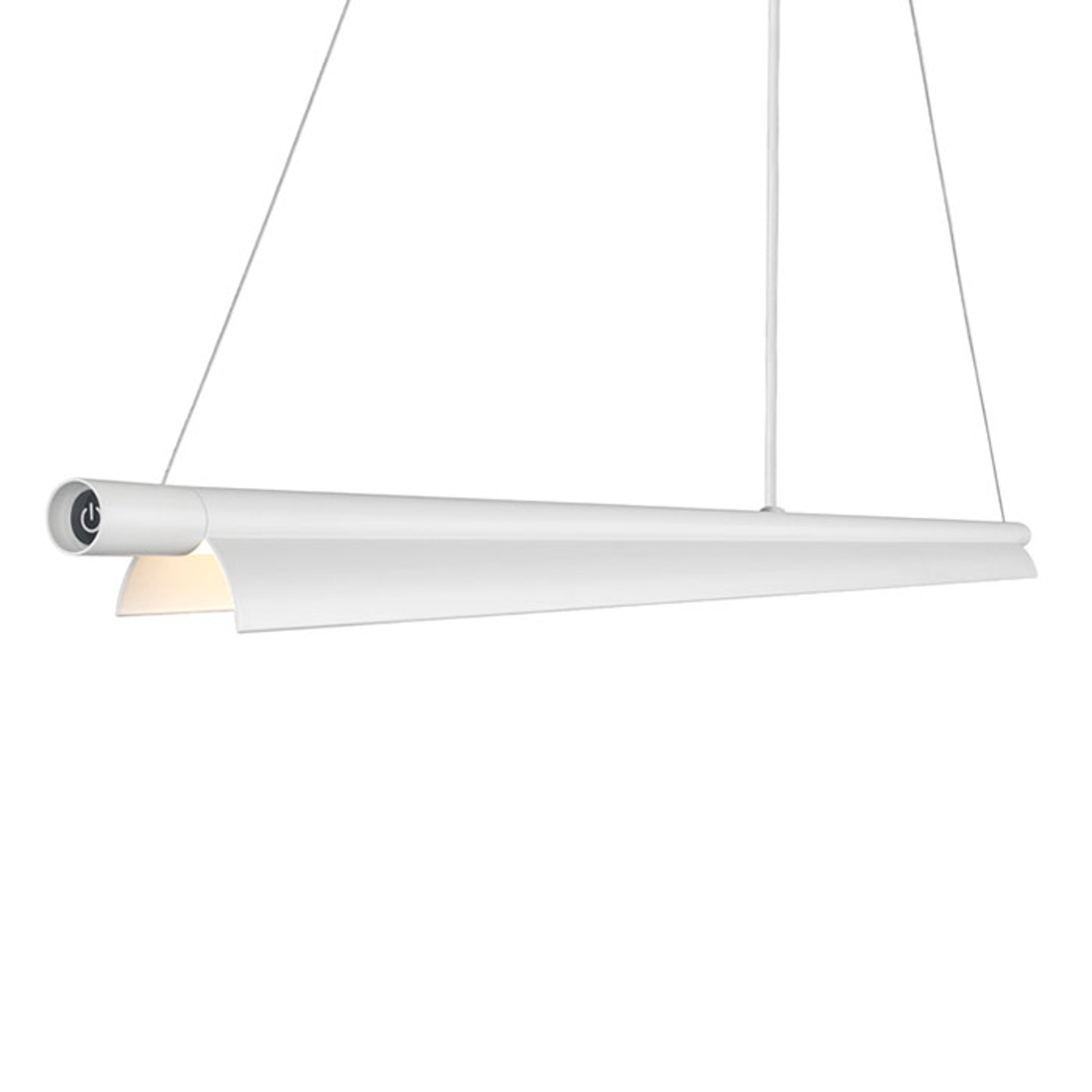 Aflang LED-pendellampe Space B hvid