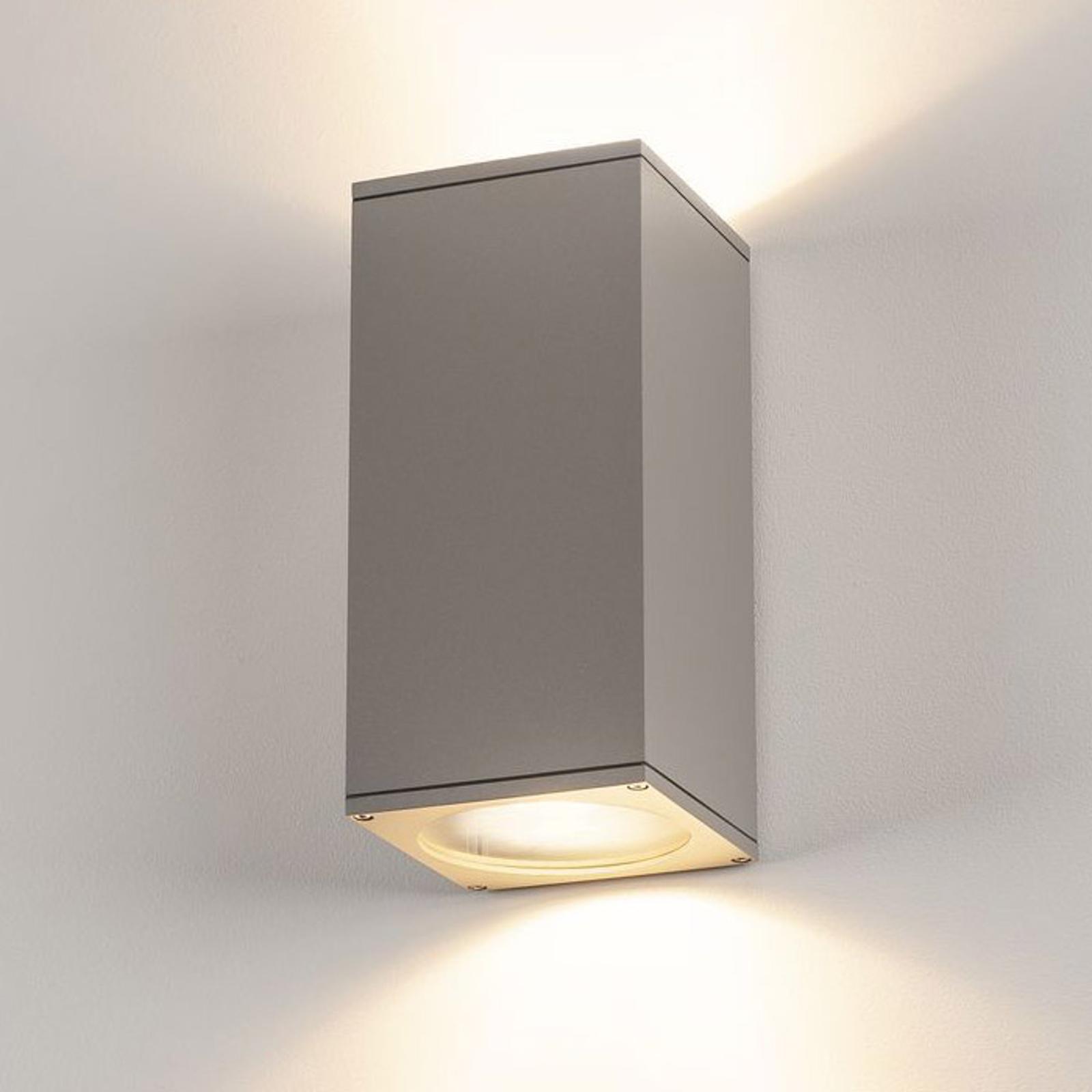 SLV Big Theo Außenwandlampe, 2fl, grau